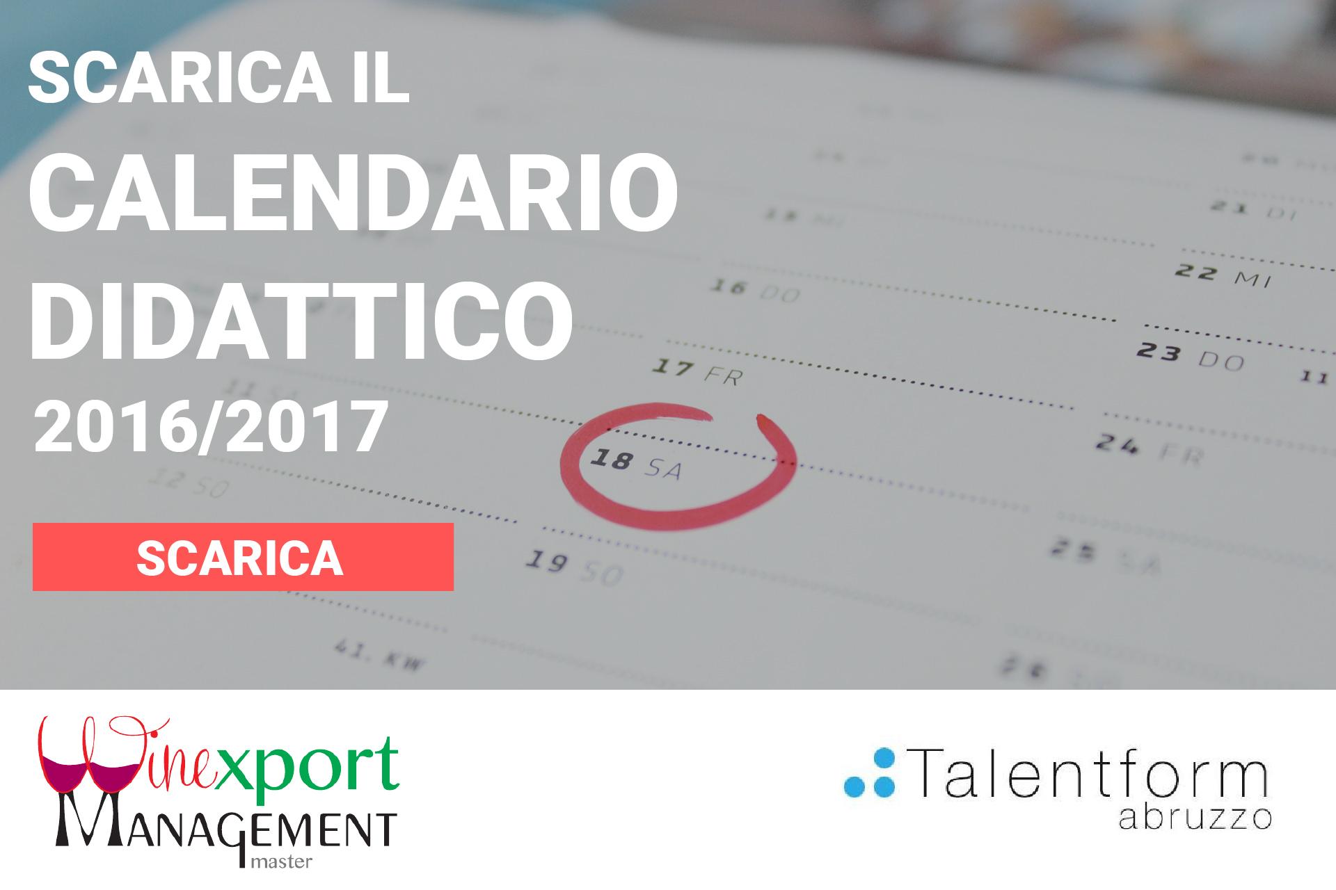 Calendario Didattico 2016 2017